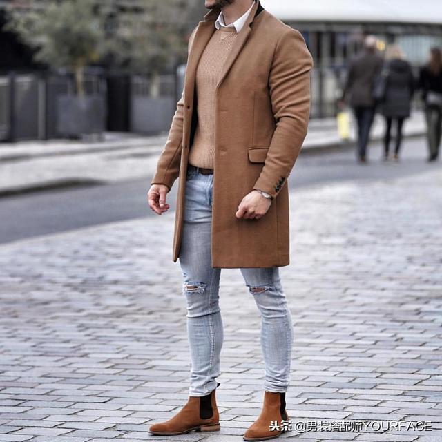 男生冬天西装和大衣的标准搭配技巧,这样穿型男指数爆表