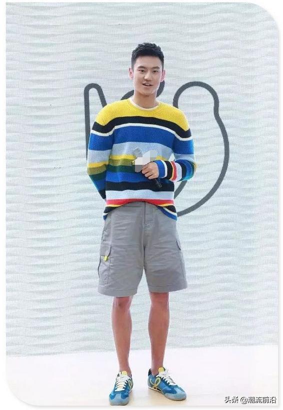 宁泽涛的时尚最特别,大夏天穿毛衣配短裤